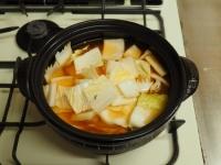 炙り鶏肉と豚バラのキムチ鍋27