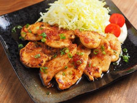 鶏むね肉の生姜焼き02