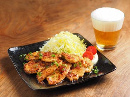 鶏むね肉の生姜焼き09