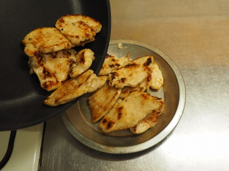 鶏むね肉の生姜焼き35