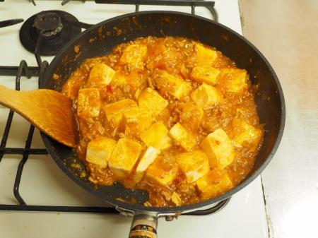 炒豆腐のチリソース炒め33