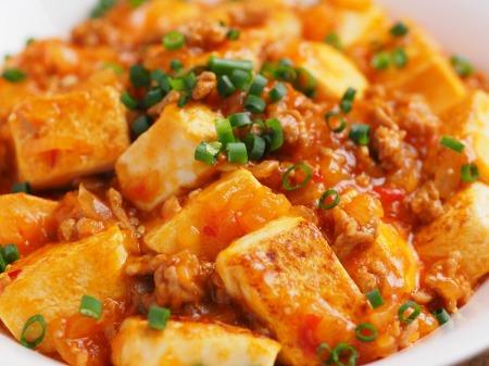 炒豆腐のチリソース炒め07
