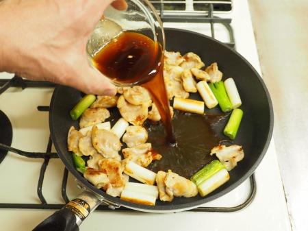 鶏ハラミと長ねぎの照り焼き42