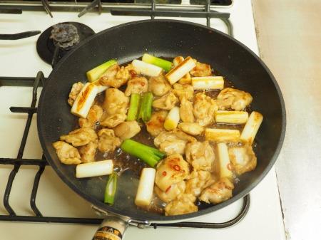 鶏ハラミと長ねぎの照り焼き43
