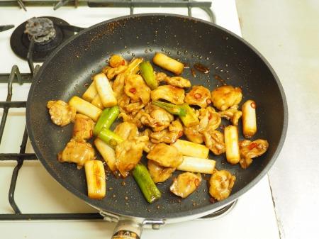 鶏ハラミと長ねぎの照り焼き44
