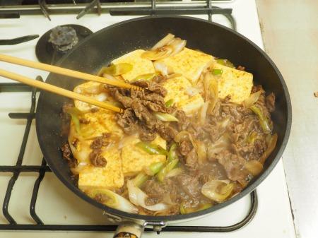 炒どうふのすき焼き炒め35