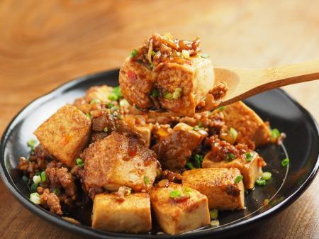 炒どうふで汁なし麻婆豆腐28
