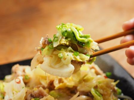 春キャベツの生姜味噌炒め22