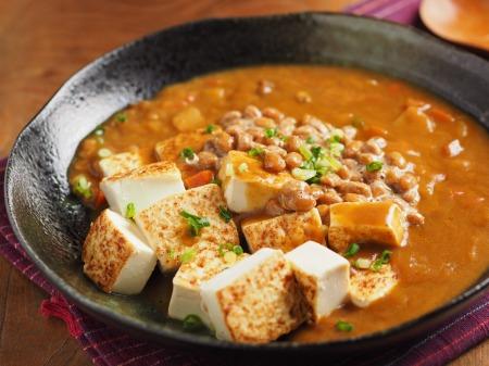 炒どうふの納豆カレー02