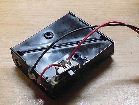 スイッチつき電池ボックス裏
