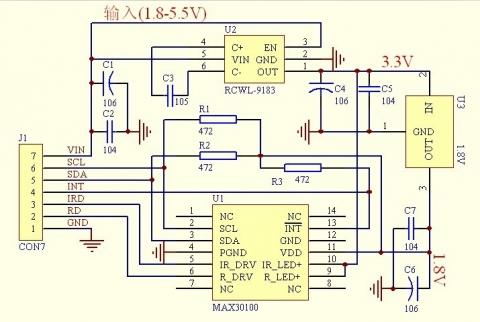 MAX30100モジュール回路