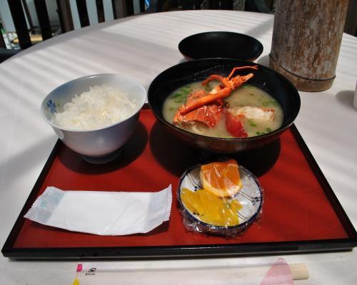 伊勢海老の味噌汁定食