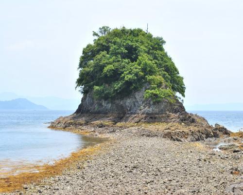 干潮時の長浦島