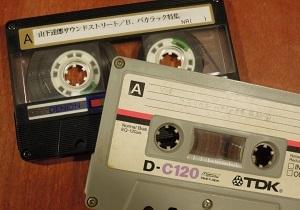 当時のカセットテープ