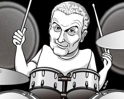 Carl Palmer caricature likeness
