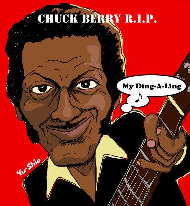 Chuck Berry caricature likeness