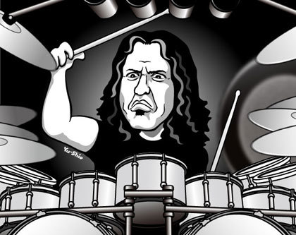 Mike Mangini Dream Theater caricature likeness