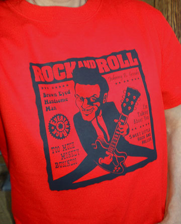 Chuck Berry T Shirt caricature