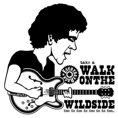 Lou Reed Velvet Underground T Shirt caricature