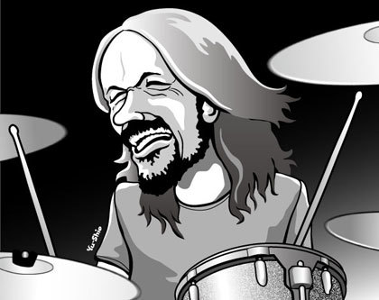 Taylor Hawkins caricature