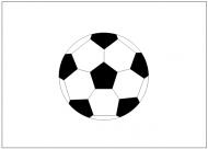 サッカーボールのフリー素材テンプレート・画像・イラスト