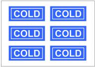 COLDの張り紙テンプレート・フォーマット・雛形