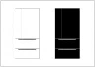 冷蔵庫のフリー素材テンプレート・画像・イラスト