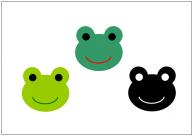カエルのフリー素材テンプレート・画像・イラスト