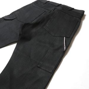 ブラックデニム アンクル パンツ 40代