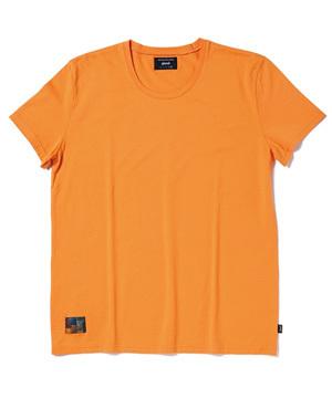 メンズ シンプル カラフル カットソー オレンジ