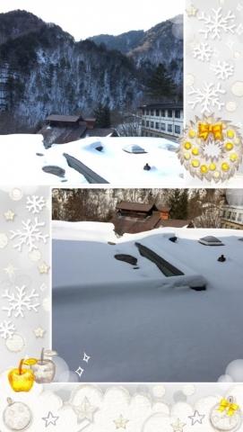 秘湯の雪景色