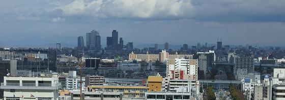 170307名古屋ポートビル展望階から名古屋駅方向