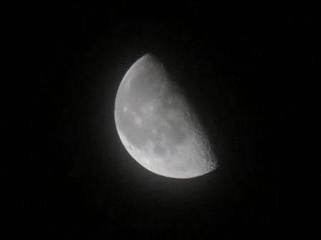 お月様日の出と 009