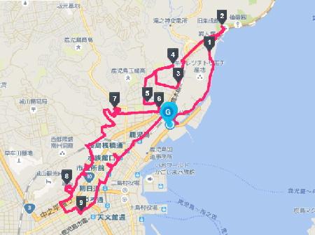 114 走行経路(13km)