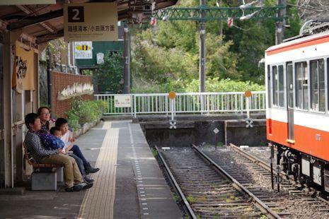 大平台で電車見