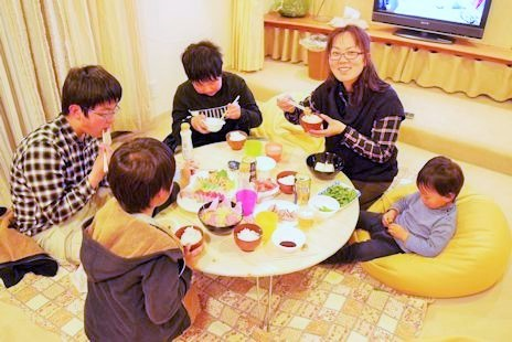 家族でお食事