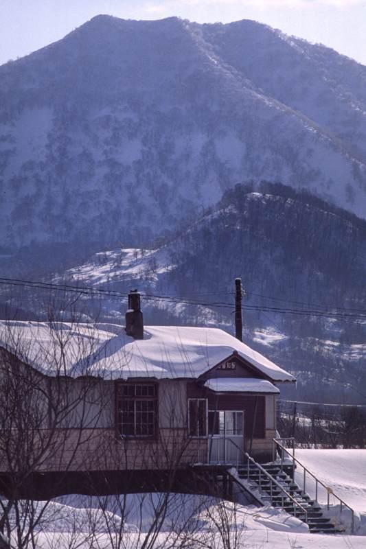 天北線 松音知駅 冬1 1988年1月 AdobeRGB 16bit take1b