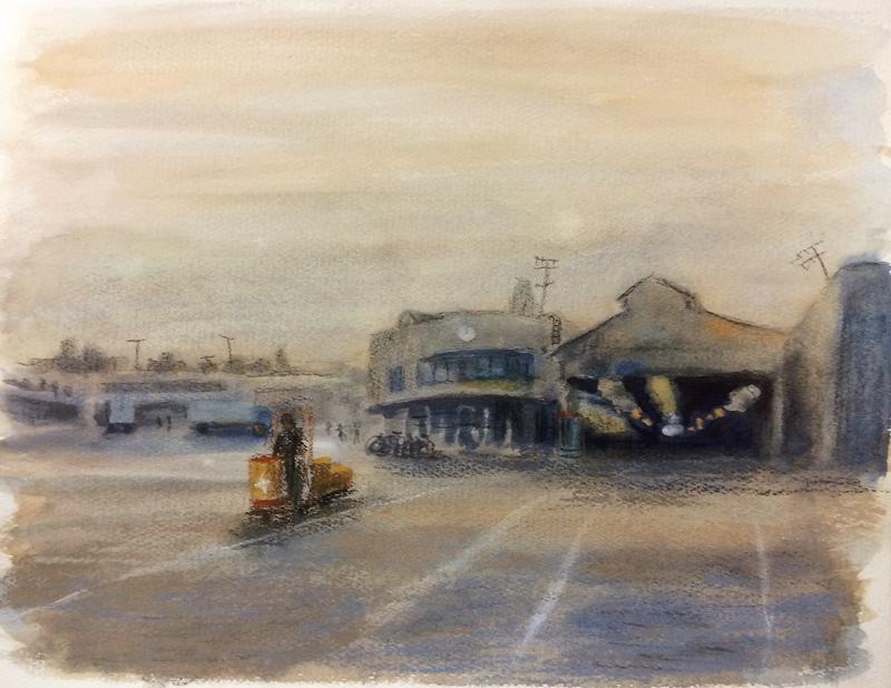 1982年頃の大阪市中央卸売市場