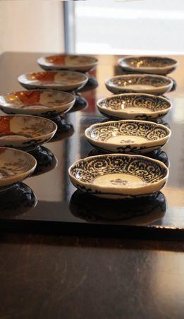 蛸唐草小皿