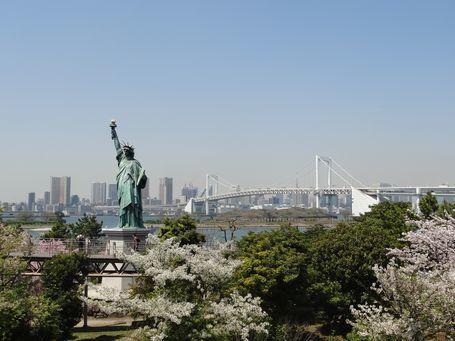 お台場海浜公園・自由の女神4/14