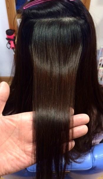 酸性矯正でやわらかなストレートヘア