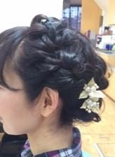 卒業式の編み込みヘアセット