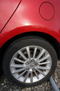 rear left tyre