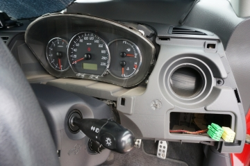 instrument panel without cover