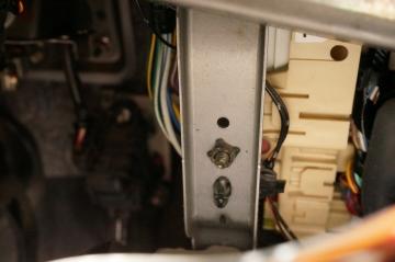 under instrument panel