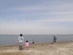 富津公園から海