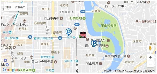 岡山市民館 地図