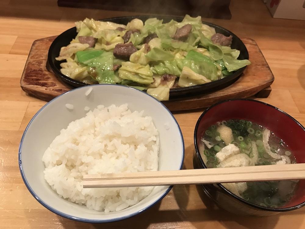 辛味噌鉄板焼き定食