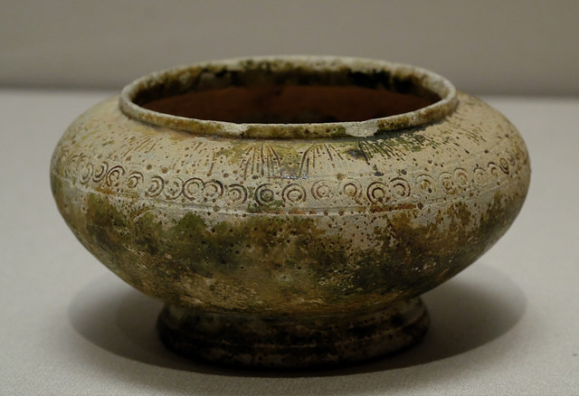 008緑釉壺7C陶製小倉