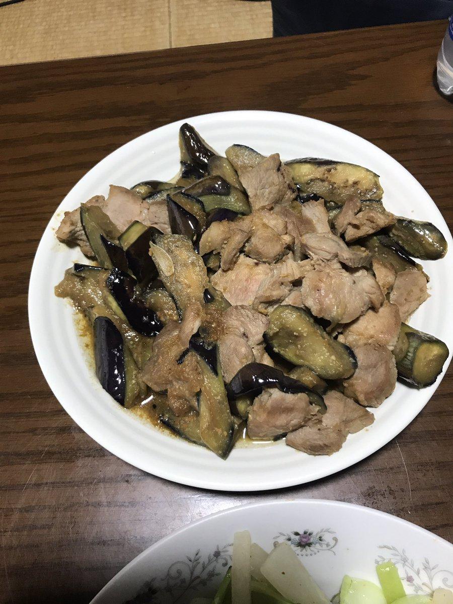 豚肉となすの中華風甘みそ炒め
